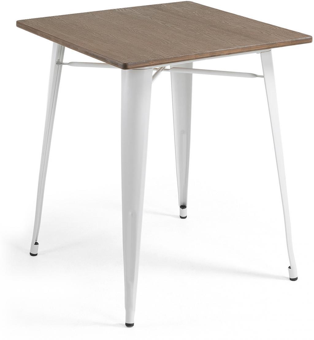 Eettafel Wit Vierkant.Eettafel Malibu Vierkant 80 X 80 Cm Wit Bamboe La Forma Lil Nl